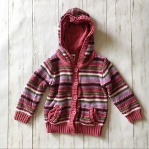Baby Gap Multi Color Stripe Knit Cardigan Sweater